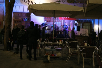 The band in the Plaza San Agustín (where the Mercado and my piso are)